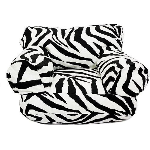 Zebra Print Bean Bag Chair Designer Covers Pty Ltd Home