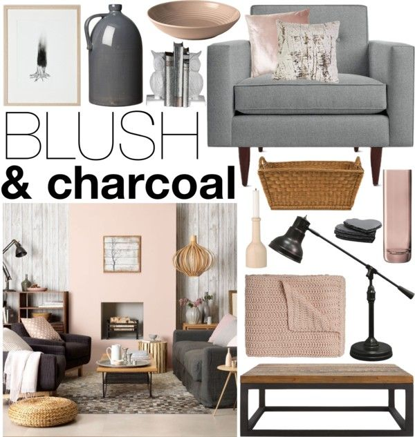 """Blush & Charcoal"" by emmy on Polyvore"