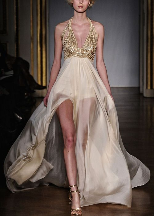 Dilek Hanif Haute Couture Spring/Summer 2011Long Dresses, Wedding Dressses, Fashion, Daenerys Targaryen, Gold Wedding Dresses, Chiffon Dresses, Glamorous Chic Life, Haute Couture, Dilek Hanif