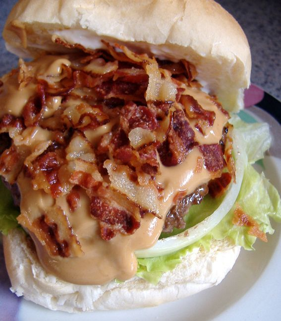 wikiHow to Make a Peanut Butter Bacon Burger -- via wikiHow.com