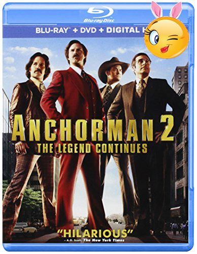 #bestdeal With the 70's behind him, San Diego's top rated newsman, Ron Burgundy (Will Ferrell), returns to the news desk in ' #Anchorman 2: The Legend Continues.'...