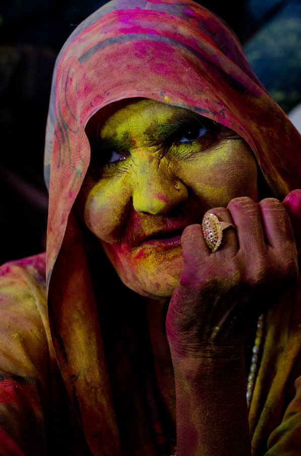 Holi Festival at all ages, India