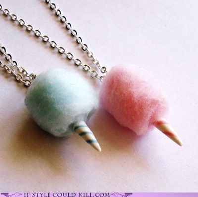Cotton Candy Necklace - So Cool! bff necklaces