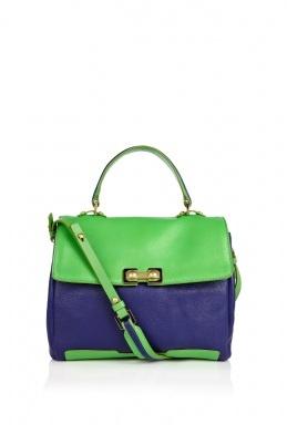 color blocked satchel, MJ