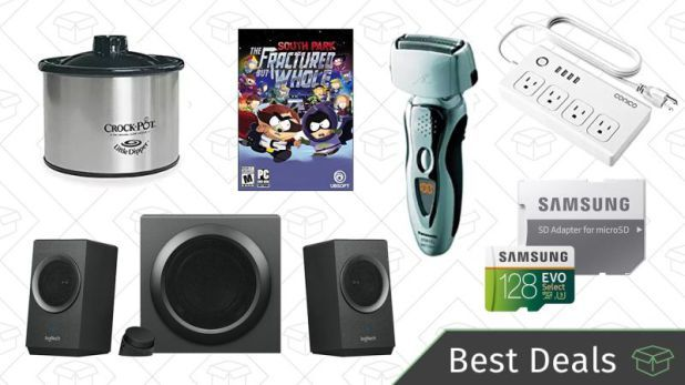 Friday's Best Deals: Logitech Speaker System Panasonic Shavers MicroSD Cards And More
