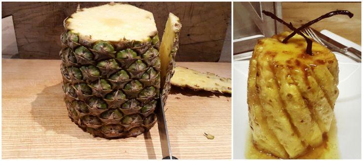 Gebakken ananas met rum en vanille | Lekker Tafelen