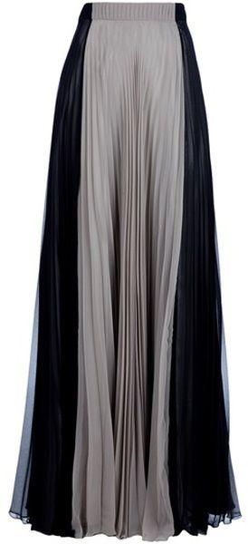 Maison Martin Margiela Gray Pleated Maxi Skirt.