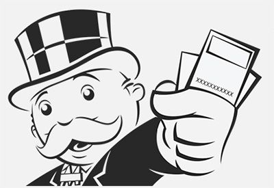The Gallery For Gt Mr Monopoly Man Holding Money