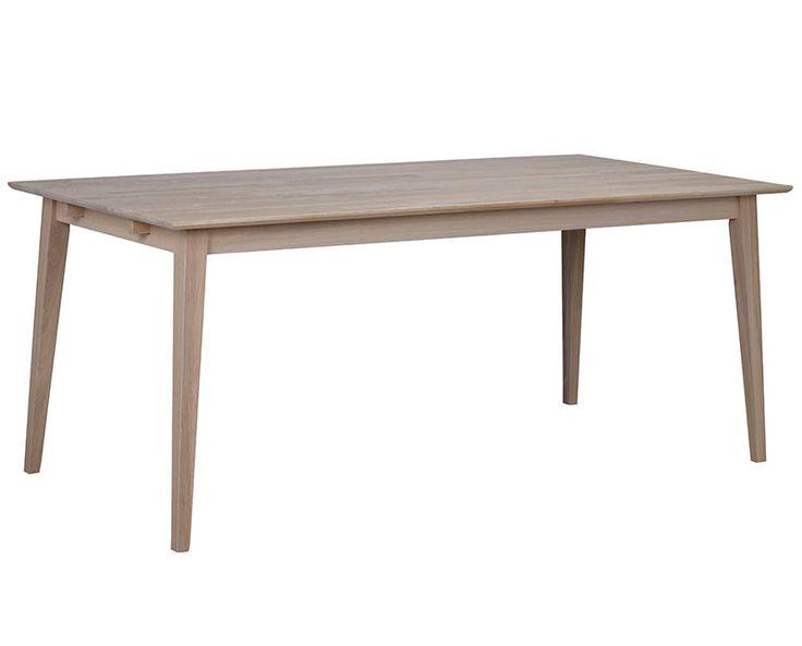 Filippa matbord, whitewash ek, 180x90 cm