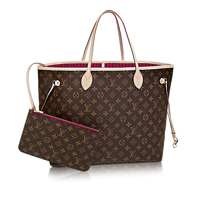 Discover Louis Vuitton Neverfull GM: Louis Vuitton celebrates the Neverfull with a new version of this iconic bag. Look inside to discover a host of refinements. The redesigned interior features a fresh textile lining and heritage details inspired by House archives. Best of all, the removable zippered clutch can be carried separately as a chic pochette or serve as an extra pocket. Linings in a selection of bright shades lend a pop of vivid color to the timeless Monogram canvas.