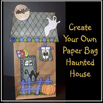 Let the students design their own Hallowe'en Haunted House What is included: - roof (with latches to keep it closed) - 1 door and 3 windows - picket fence - 2 ghosts, 1 cat, 2 bats - tombstone and pumpkin - signs - 2 simple writing activities have been prepared which can be placed inside the Haunted House. (they are interactive templates)