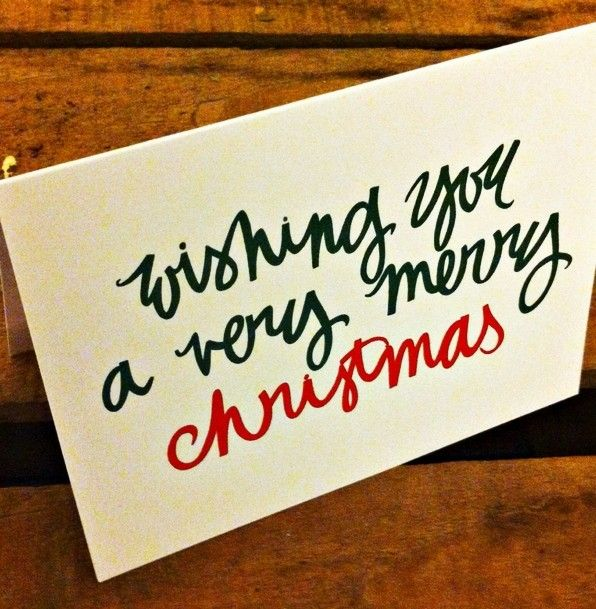Making Christmas Cards Simple Merry Christmas Ideas Part - 45: Love The Font. Greeting Cards Handmade, Christmas ...
