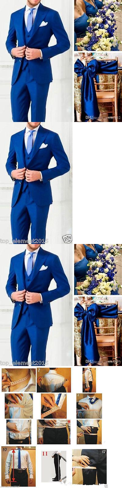 Tuxedos and Formal Suits 105515: Royal Blue Slim Fit Formal Groomsmen Wedding Suits Men Groom Suit Tuxedo Custom -> BUY IT NOW ONLY: $82.99 on eBay!