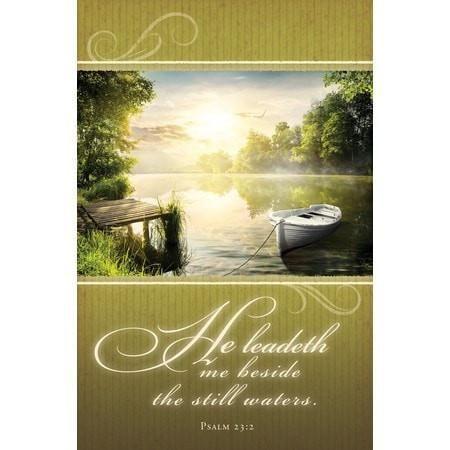 He Leadeth Me (Psalm 23:2, KJV) Bulletins, 100