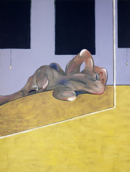 'Lying Figure in Mirror' by Francis Bacon (1971)