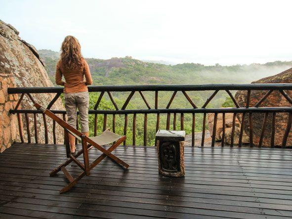 Big Cave Camp, Matobo National Park, ZImbabwe.  Swimming pool at Singita Pamushana Lodge, Zimbabwe.  Should you travel to Zimbabwe? Don't ask, just go! http://www.go2africa.com/africa-travel-blog/30930/should-i-travel-to-zimbabwe