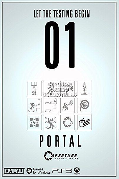 "CGC Huge Poster - Portal Caperture Laboratories Test Chamber PS3 XBOX 360 PC - POR001 (24"" x 36"" (61cm x 91.5cm))"