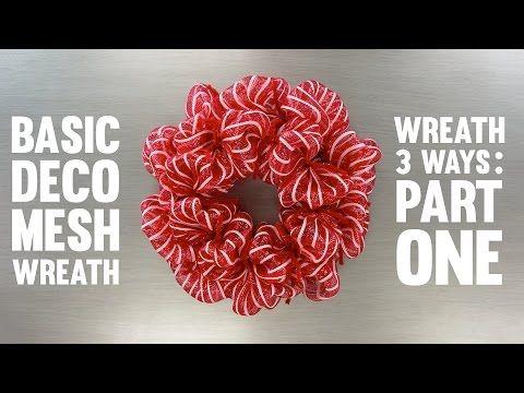 Wreath Three Ways: Basic Deco Mesh Wreath | Craft Outlet YouTube
