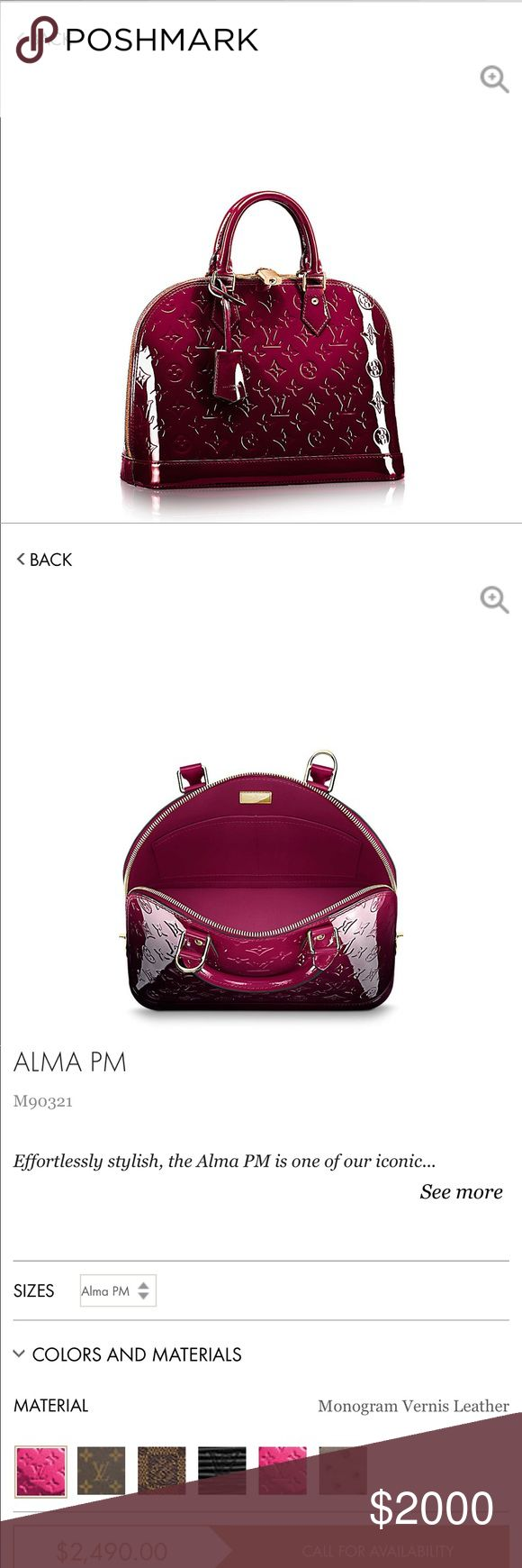 Louis Vuitton Alma amaramte Gorgeous, gorgeous, it's the only thing the a can say about this beauty my husband give it to me but it's too small for my taste 100% auténtico and you also have the piece of mine of Poshmark  autentici brand new Louis Vuitton Bags Satchels