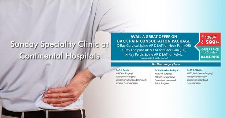 Sunday Super Speciality Clinic At Continental Hospitals!  #Offer #Backpain #HealthCheckup