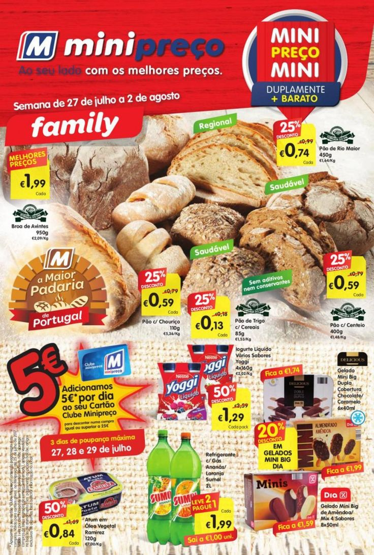 Folheto de promoções #Minipreço versão Family em vigor de 27 Julho a 02 Agosto.