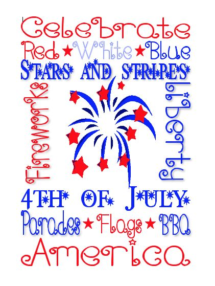 4th of July Subway Art Free Printable