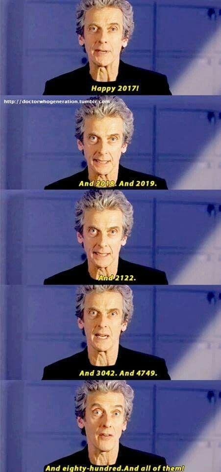 Peter Capaldi #HappyNewYear 2017