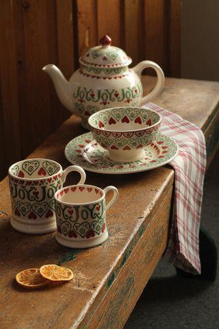 Love Emma Bridgewater, we have several of her pieces~ Churchmouse Yarns & Teas ~ Emma Bridgewater Joy ~
