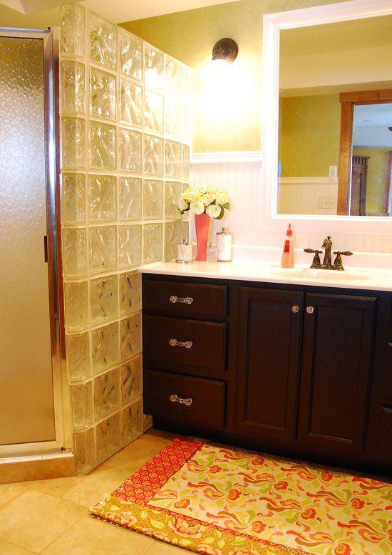 A Belated Bedroom Redo. Glass Block ShowerGlass BlocksThe GlassBathroom  IdeasBathrooms