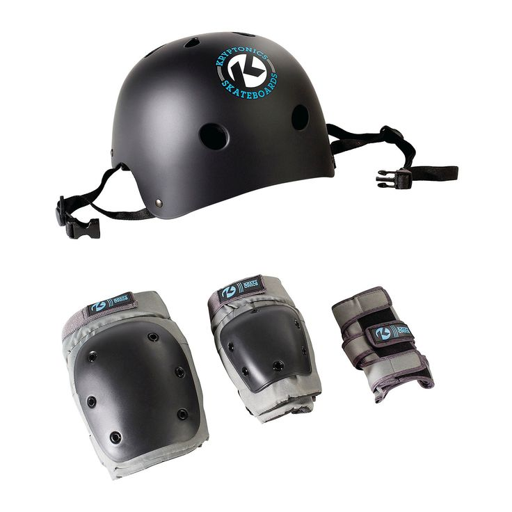 Keep yourself protected with the Kryptonics 4-in-1 combo pad set, including a helmet, knee, elbow, and wrist pads. Helmet features ABS high impact plastic with EPS high energy absorbing foam as well as high impact ABS and nylon buckles to withstand a thrashing. Pads are hard injection molded and lined with moisture wicking materials for maximum comfort.