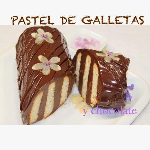 Bilyrecetas: Pastel de chocolate y galletas