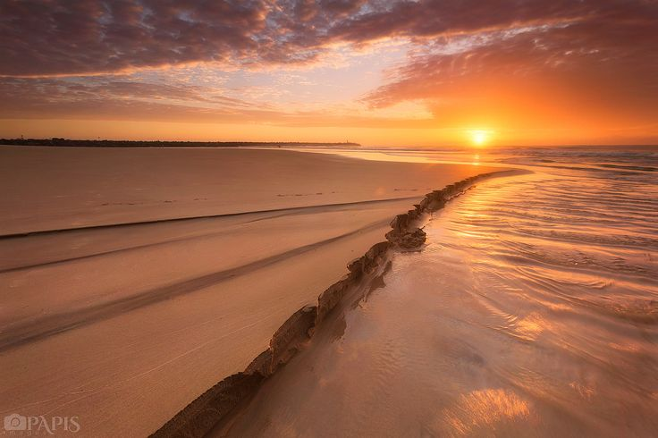 Sunrise over the Spit, Gold Coast, Australia.