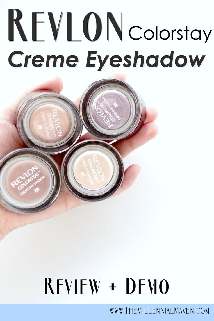 Revlon Colorstay Creme Eyeshadow Review + Demo