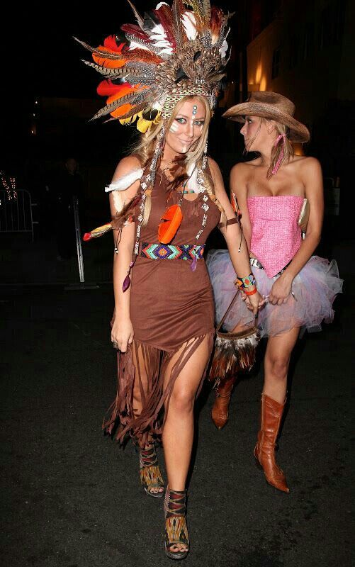 Cowgirl and Indian costume idea