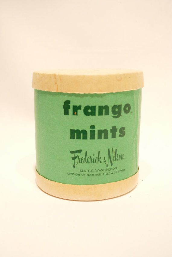 Vintage Fango Mints Box from Frederick and Nelson of Seattle Washington | www.streettreatswa.com/