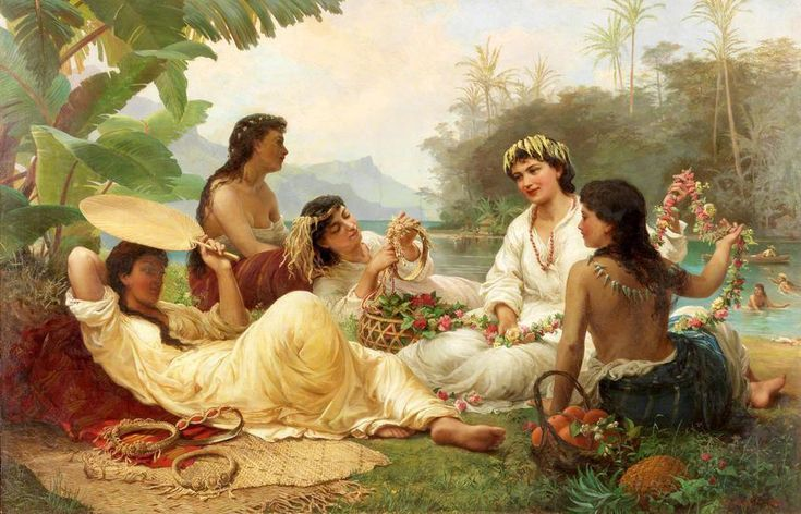 File:Nicholas Chevalier, Sunny Clime, Tahiti, 1883, oil on canvas.jpg