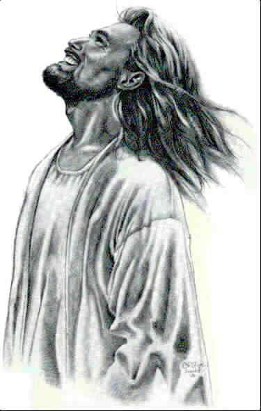 Christine Kerrick - Jesus smiles~ the joy of the Lord is my strength - Sketch by Christine Kerrick. This is the Jesus I love to see