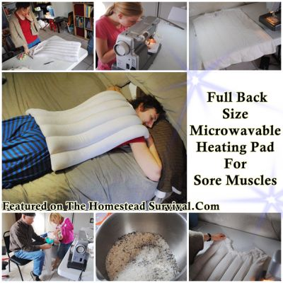 The Homestead Survival | Back Size Microwavable Heating Pad For Sore Muscles | http://thehomesteadsurvival.com
