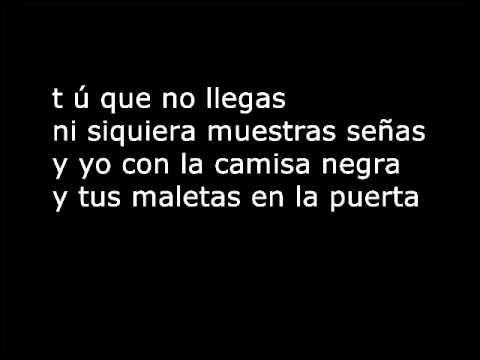 Juanes La Camisa Negra  Lyrics .wmv - Hvaða nemandi elskar ekki sönginn um svörtu skyrtuna hans Jóhannesar?
