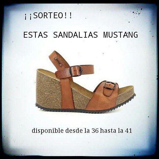 Sorteo de estas sandalias mustang en el blog Participar eshellip