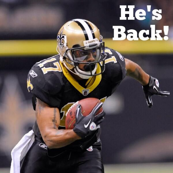 The New Orleans Saints have signed WR Robert Meachem to a 1-year deal!