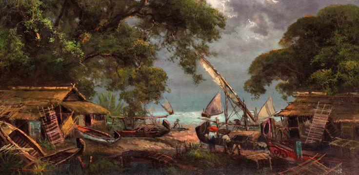 Saiman Dullah (Tuban, East Java, 1954) -  Kampung Nelayan.