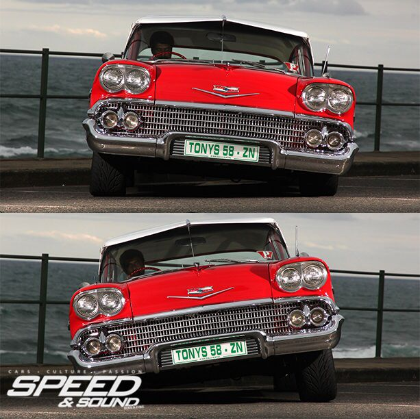 Riding Dirty, oldschool Chevrolet Biscayne on air