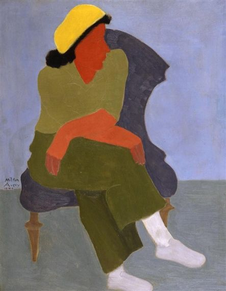 Milton Avery, GIRL WITH FOLDED ARMS