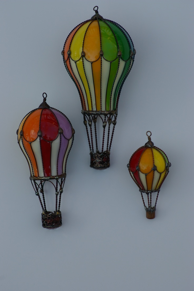 Hot Air Balloons from light bulbs