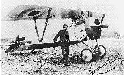 Bishop and a Nieuport 17