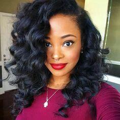 Curly crochet hair style