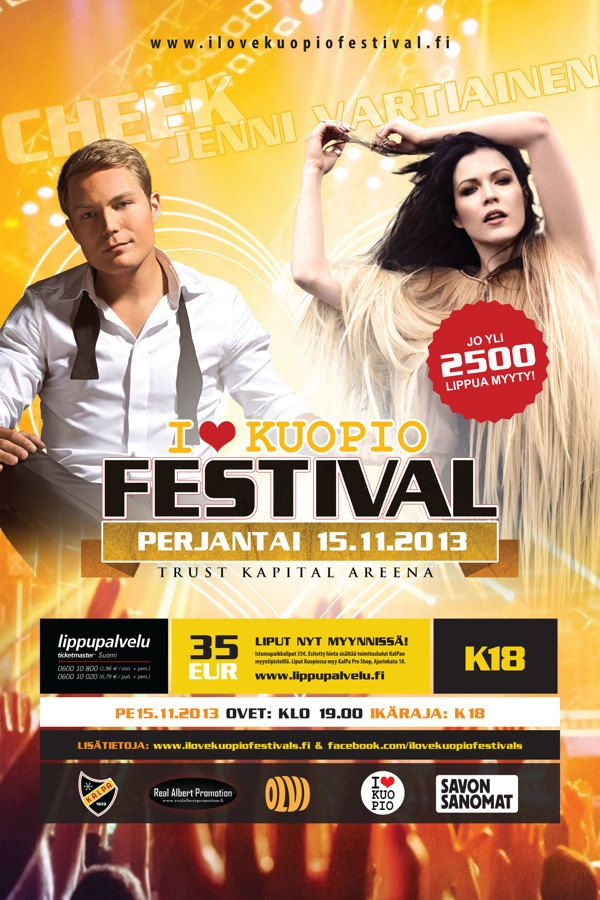 I Love Kuopio festivals -event by Ville Palmu, via Behance #cheek #jennivartiainen