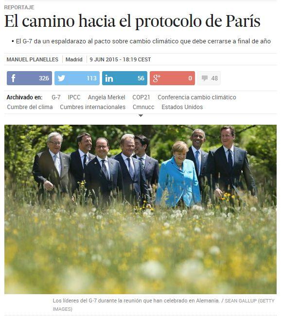 El camino hacia el Protocolo de París / @el_pais | #readyforclimatechange