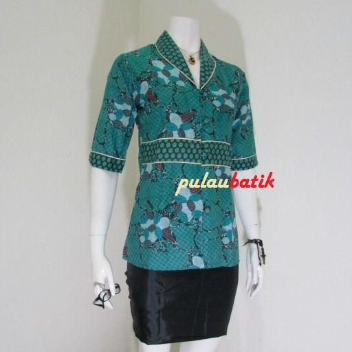 Koleksi blus batik kerja terbaru online
